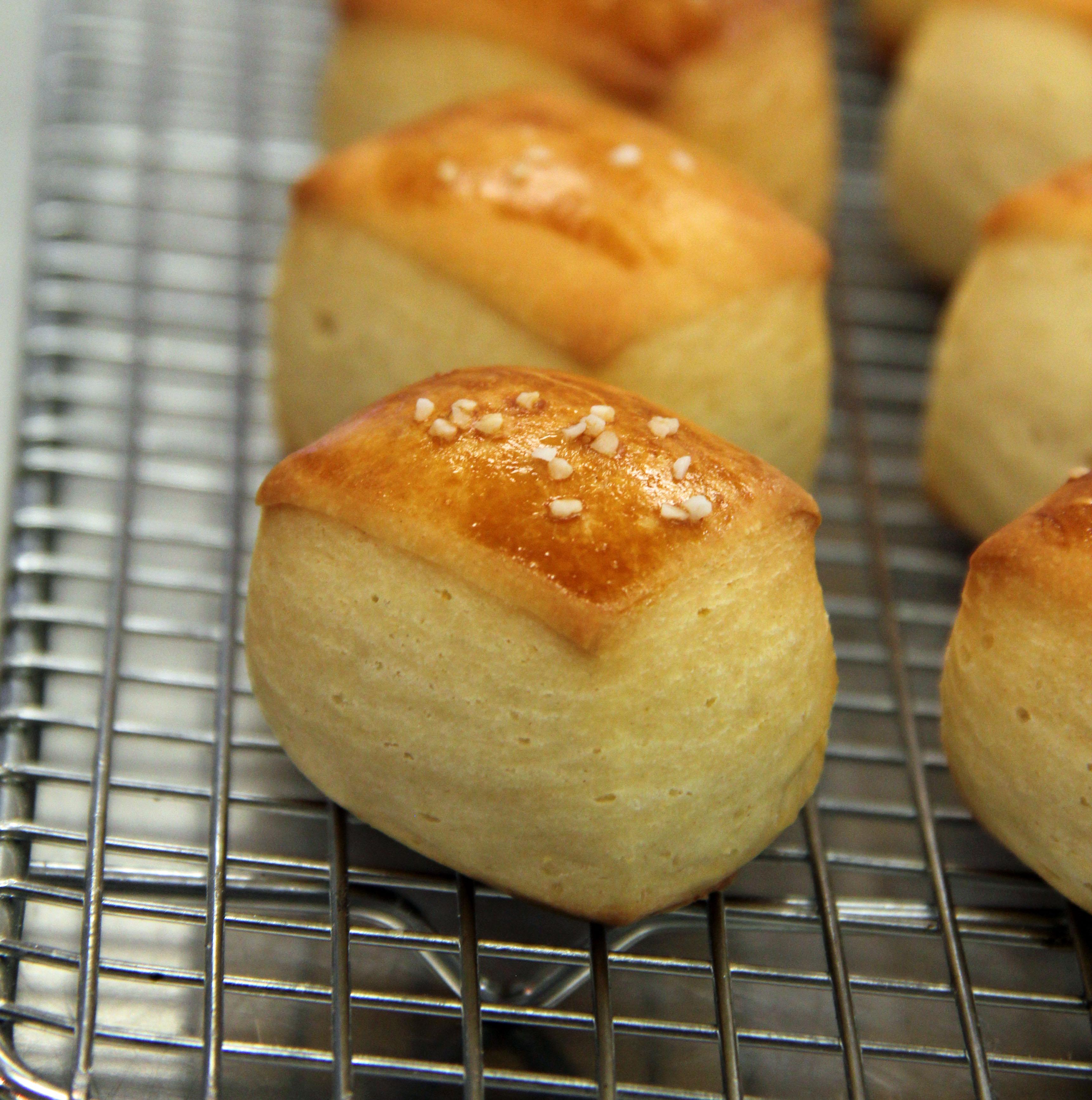 ... pain au chocolat cinnamon rolls with crème fraîche icing and walnuts